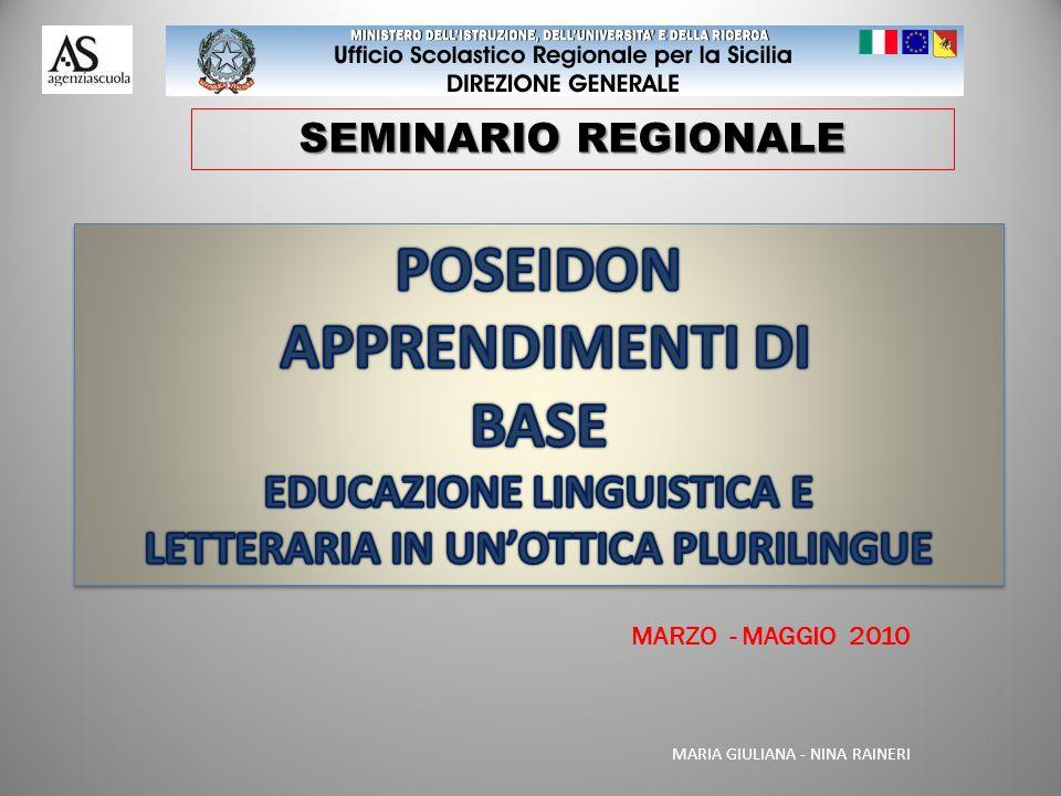 EDUCAZIONE LINGUISTICA E LETTERARIA IN UN'OTTICA PLURILINGUE
