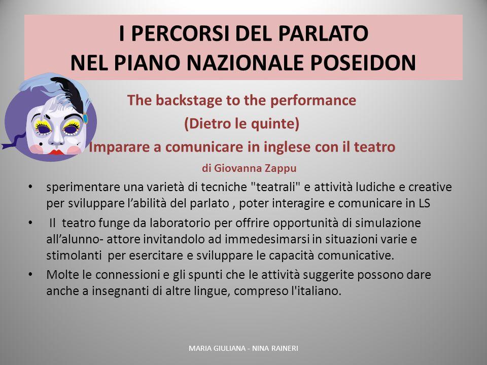 I PERCORSI DEL PARLATO NEL PIANO NAZIONALE POSEIDON