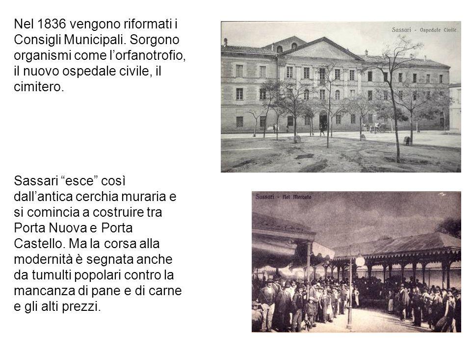 Nel 1836 vengono riformati i Consigli Municipali