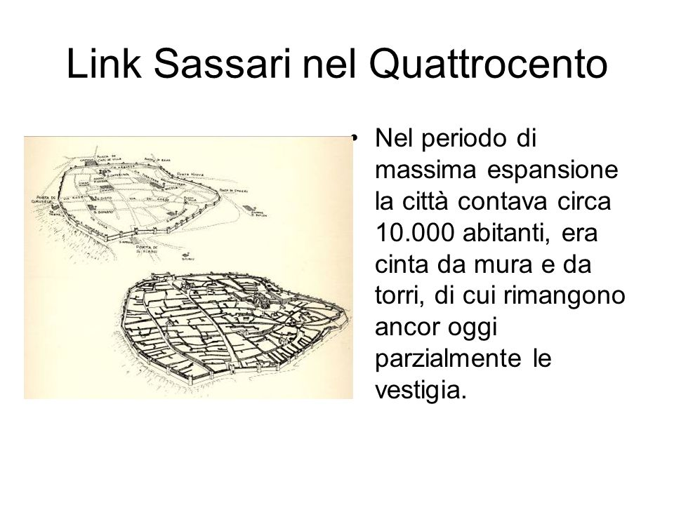 Link Sassari nel Quattrocento