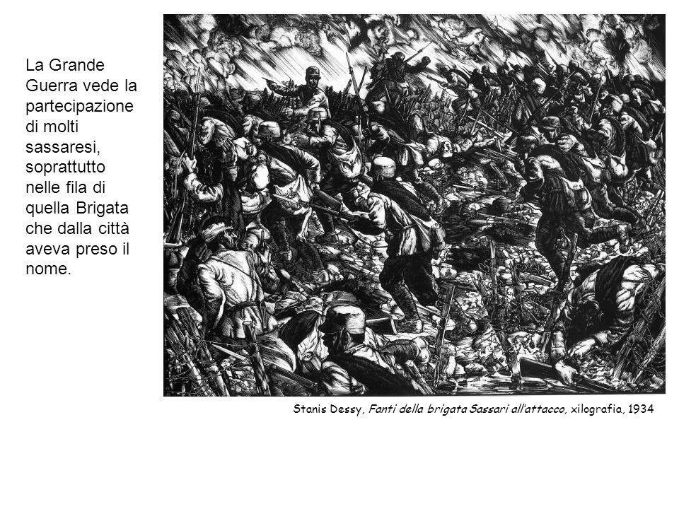 La Grande Guerra vede la partecipazione di molti sassaresi, soprattutto nelle fila di quella Brigata che dalla città aveva preso il nome.