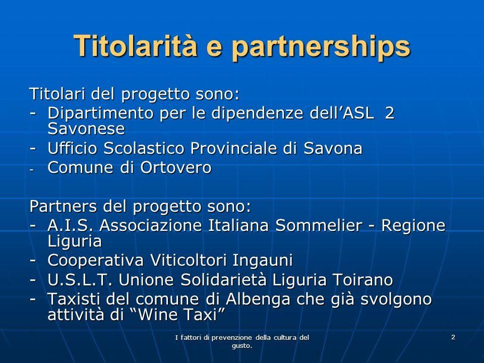 Titolarità e partnerships
