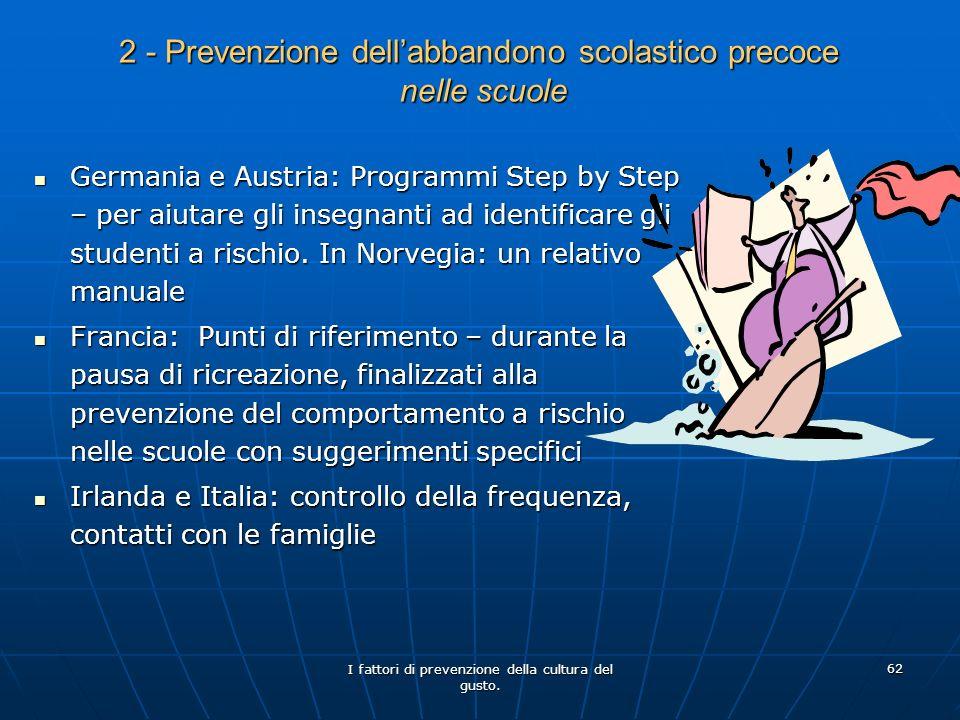 2 - Prevenzione dell'abbandono scolastico precoce nelle scuole