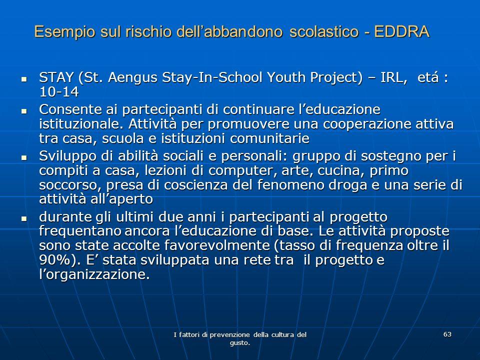 Esempio sul rischio dell'abbandono scolastico - EDDRA