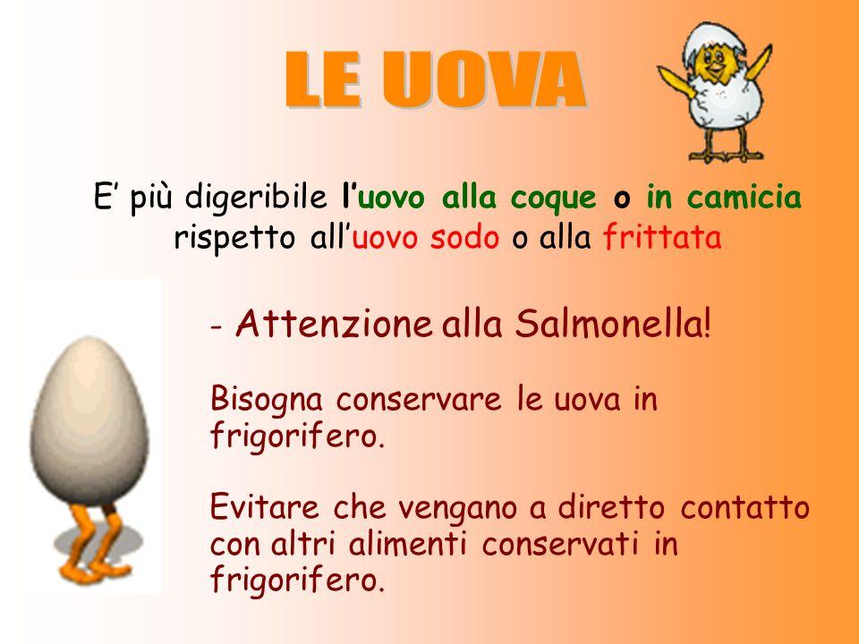 LE UOVA E' più digeribile l'uovo alla coque o in camicia rispetto all'uovo sodo o alla frittata. - Attenzione alla Salmonella!