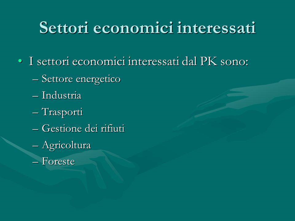 Settori economici interessati