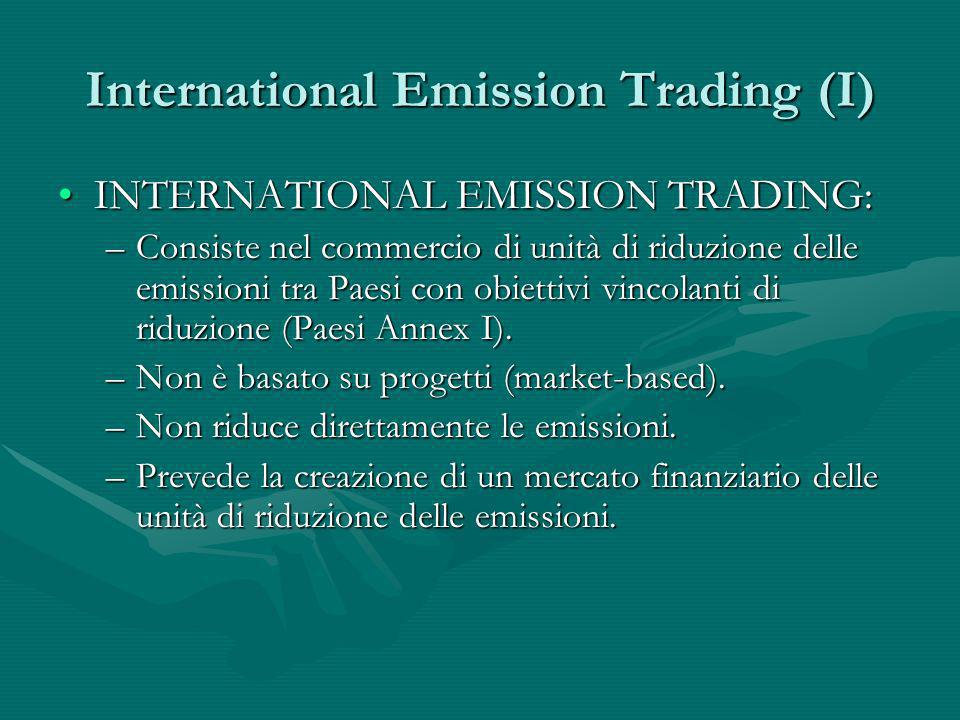 International Emission Trading (I)