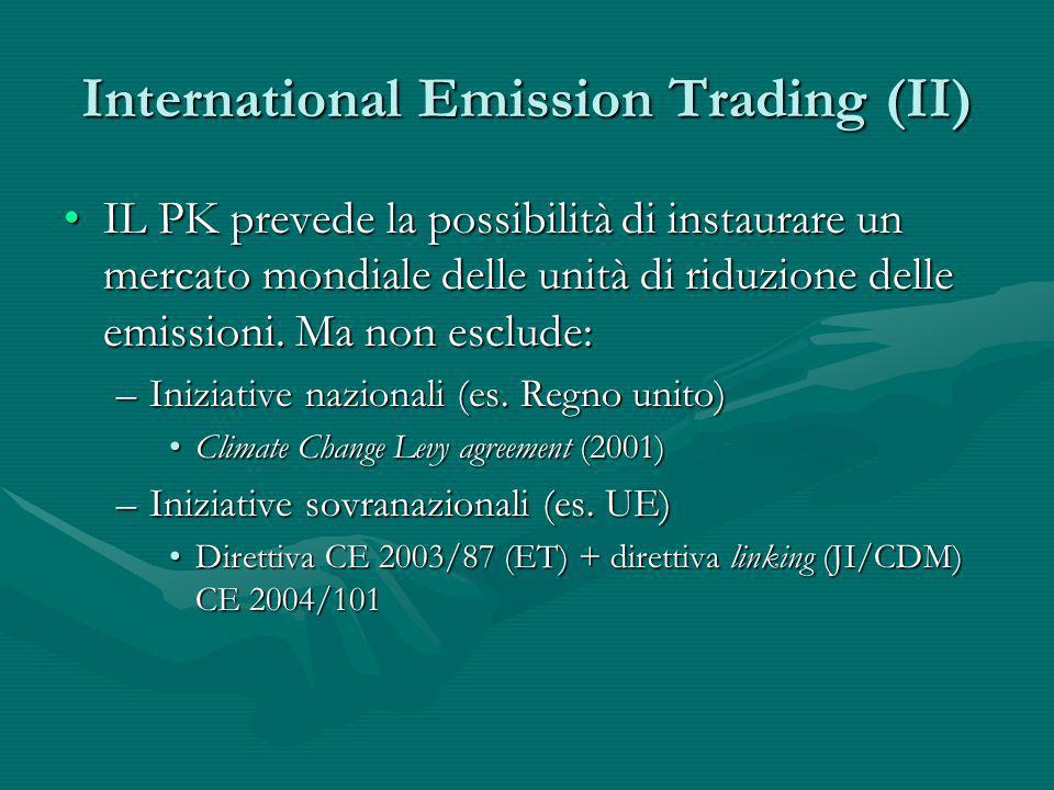 International Emission Trading (II)