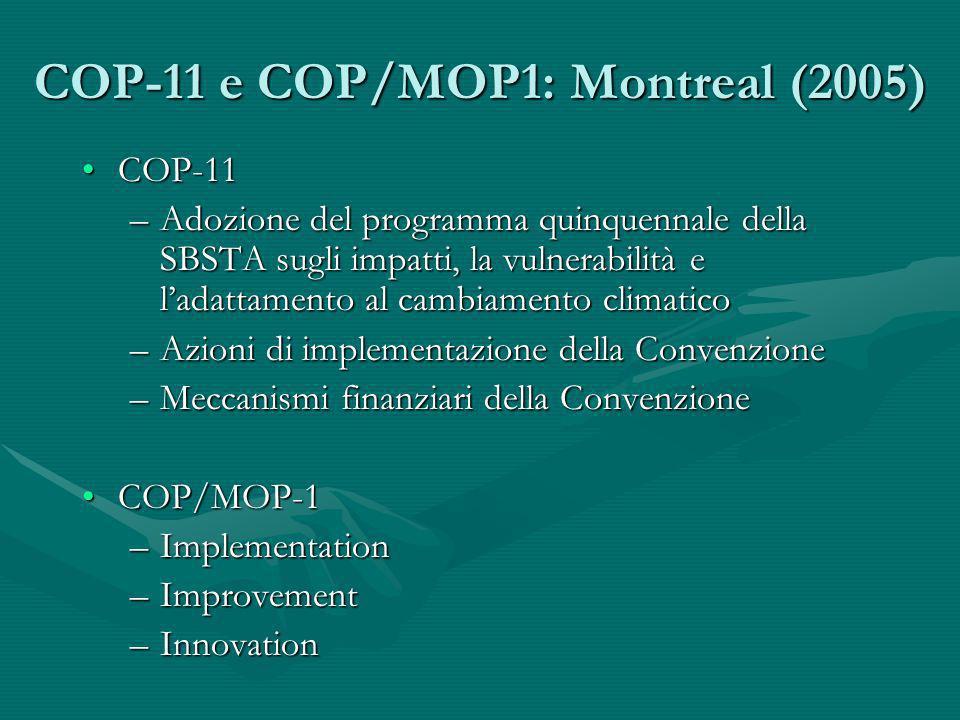 COP-11 e COP/MOP1: Montreal (2005)