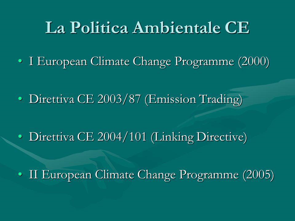 La Politica Ambientale CE