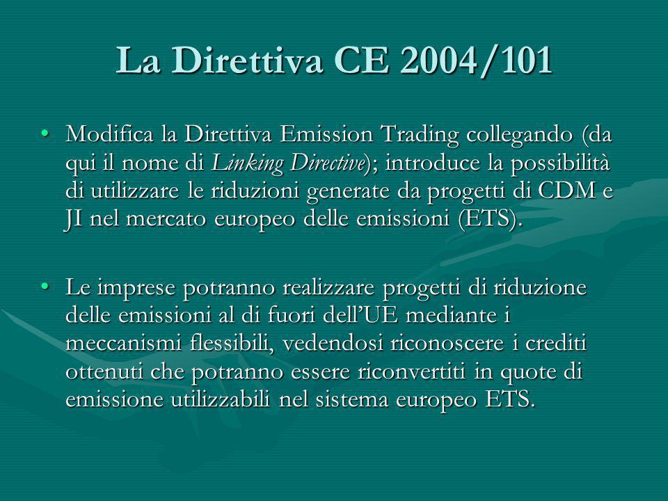 La Direttiva CE 2004/101