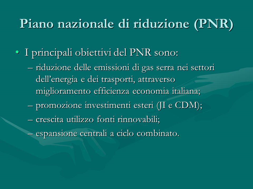Piano nazionale di riduzione (PNR)