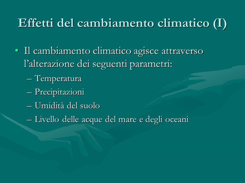 Effetti del cambiamento climatico (I)