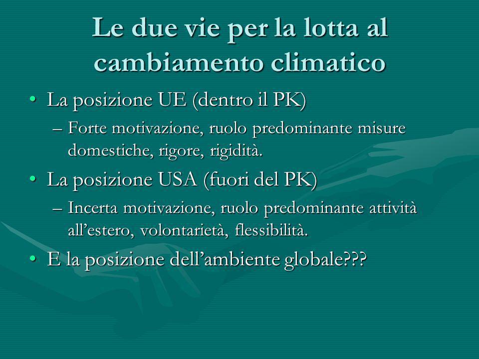 Le due vie per la lotta al cambiamento climatico