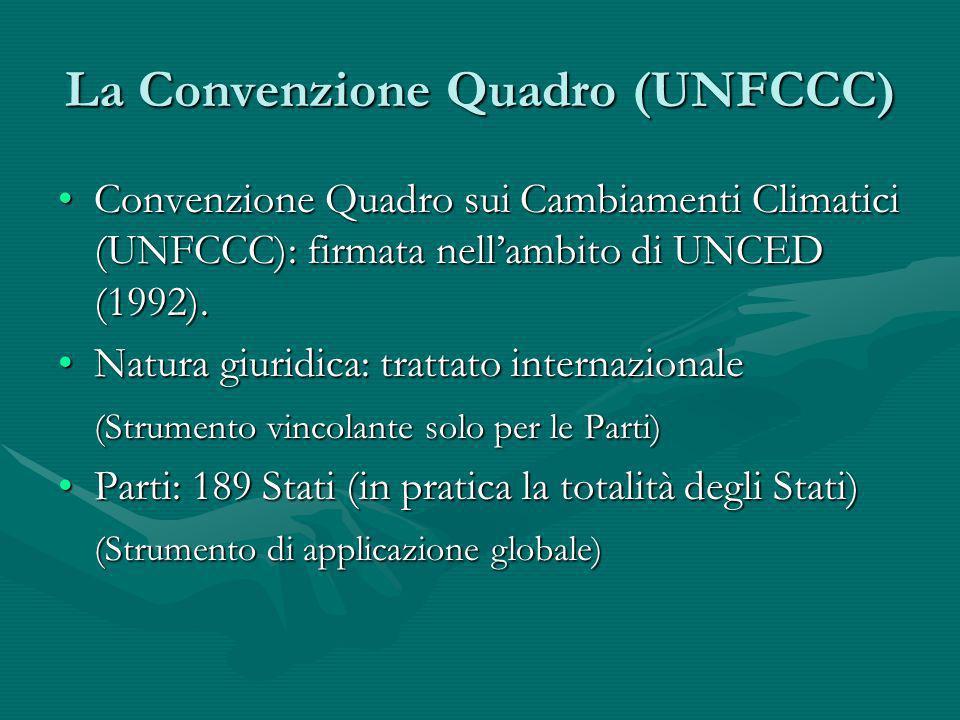La Convenzione Quadro (UNFCCC)