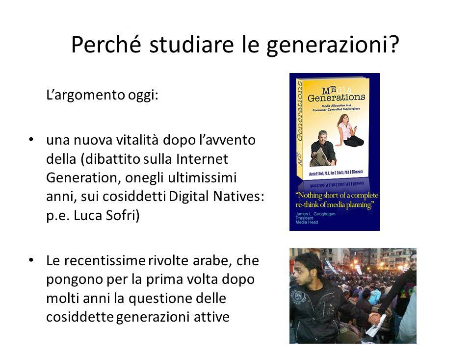 Perché studiare le generazioni