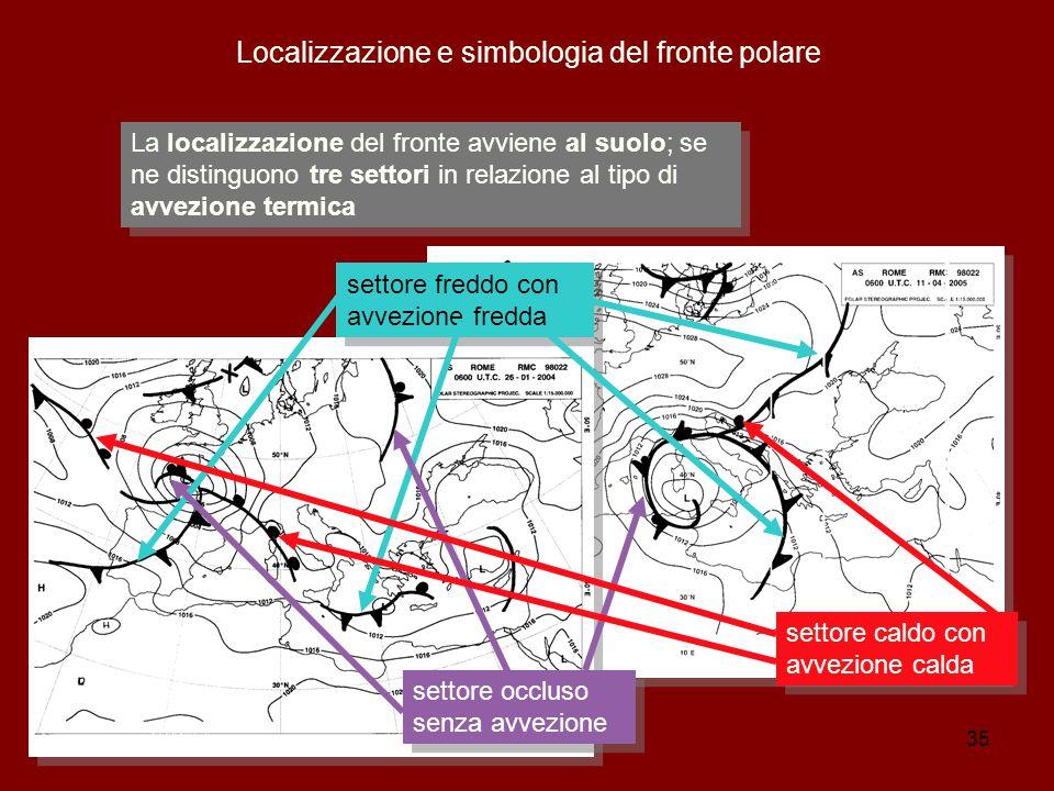 Localizzazione e simbologia del fronte polare