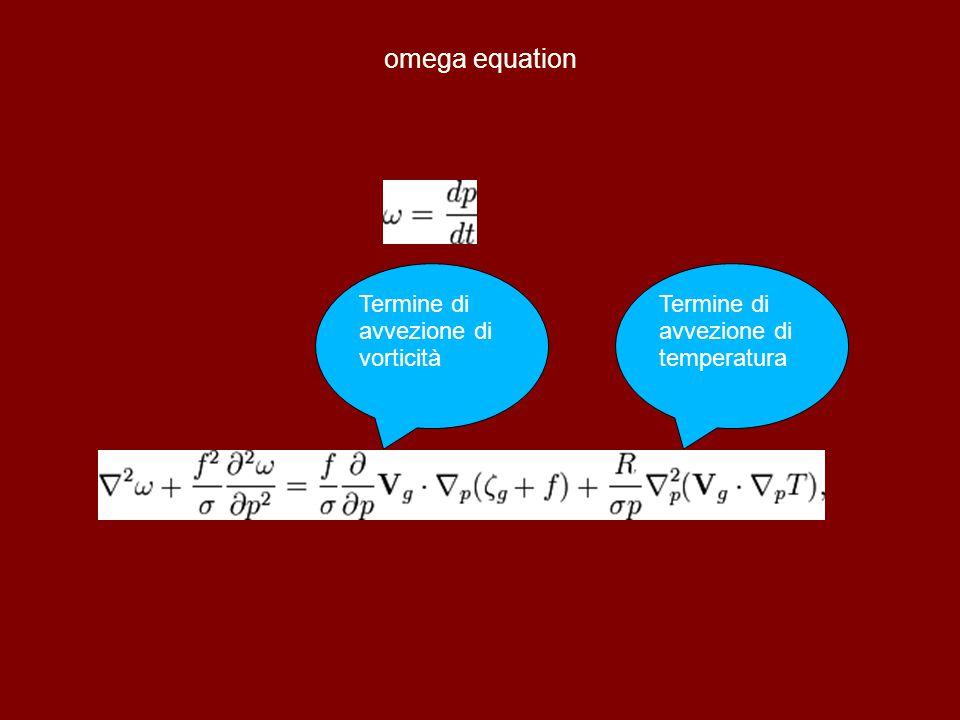 omega equation Termine di avvezione di vorticità