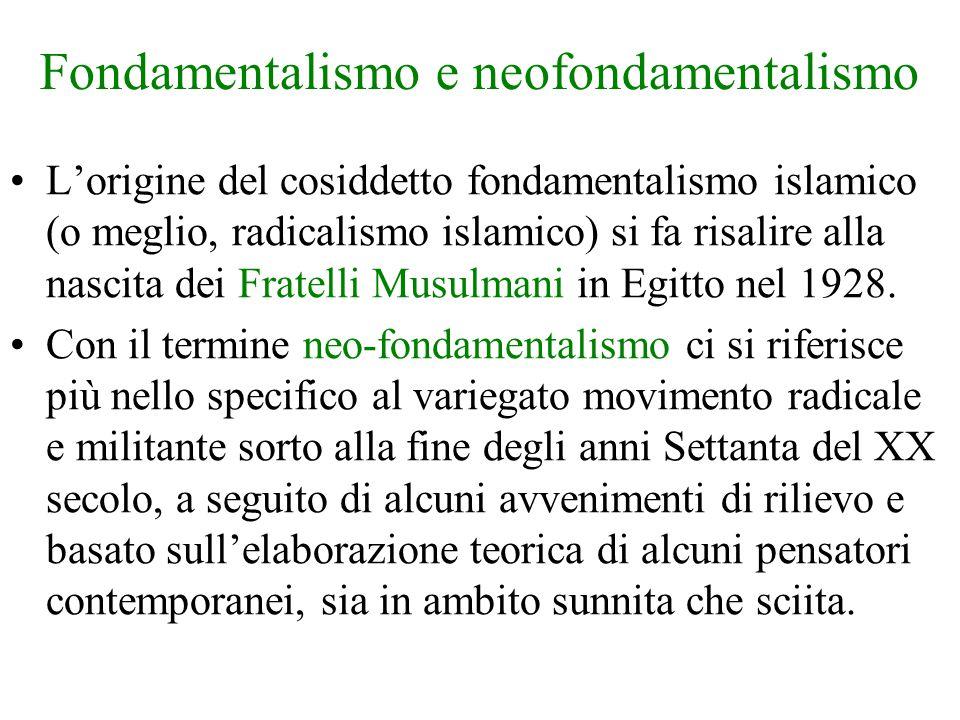 Fondamentalismo e neofondamentalismo