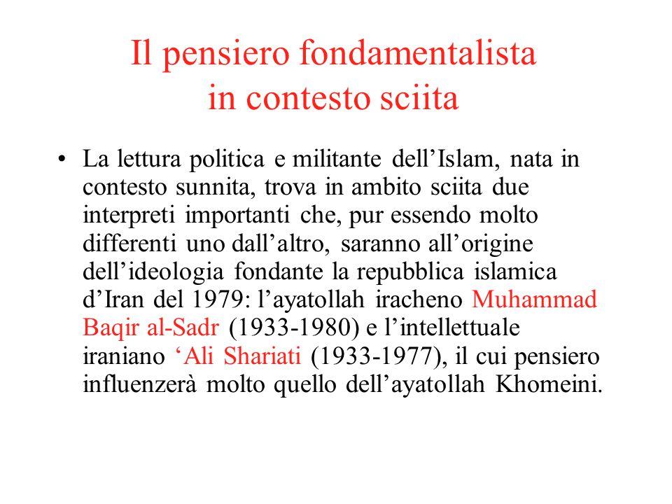 Il pensiero fondamentalista in contesto sciita