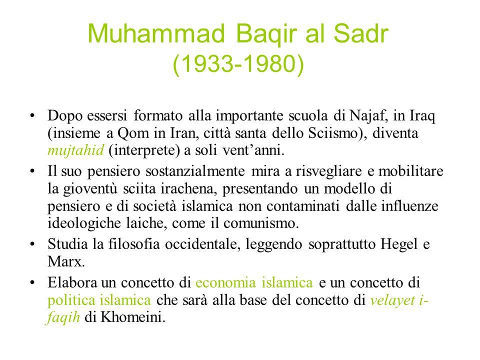 Muhammad Baqir al Sadr (1933-1980)