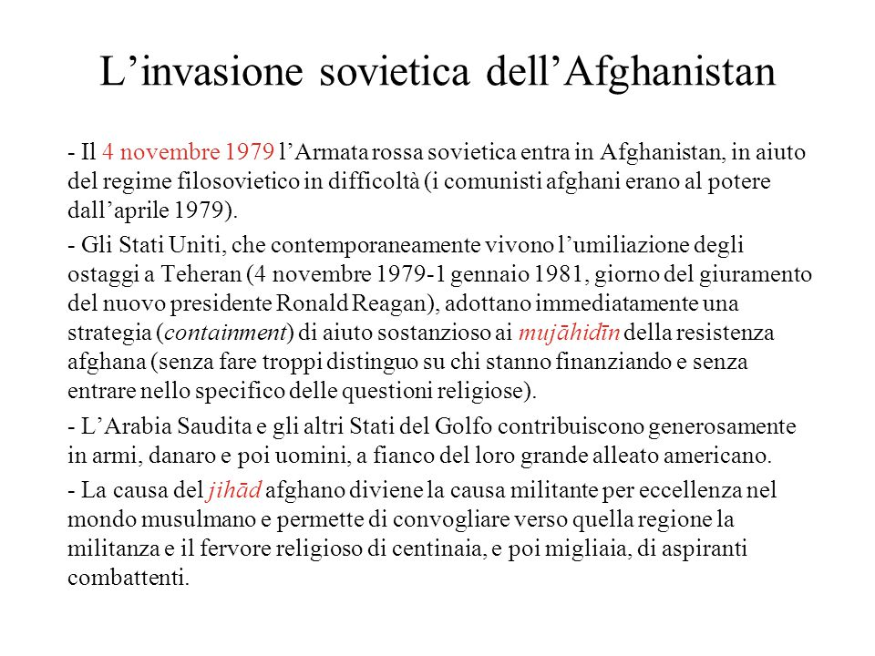 L'invasione sovietica dell'Afghanistan