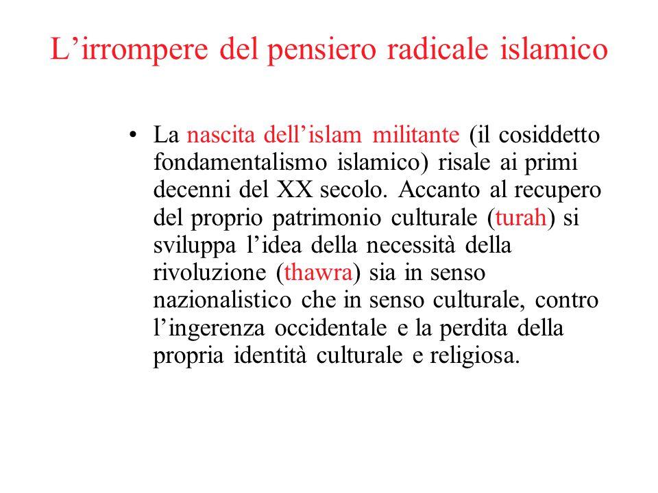 L'irrompere del pensiero radicale islamico