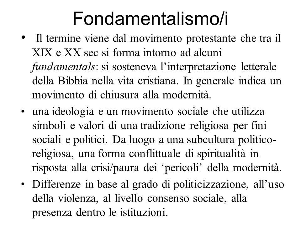 Fondamentalismo/i