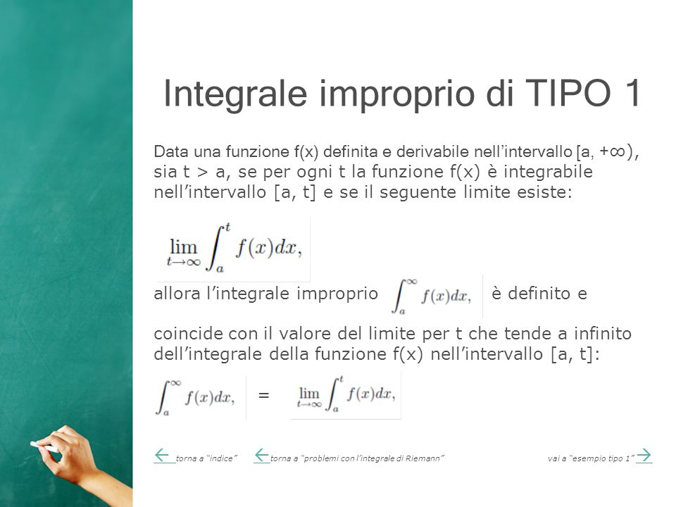 Integrale improprio di TIPO 1