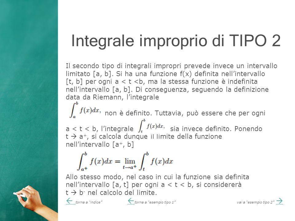 Integrale improprio di TIPO 2