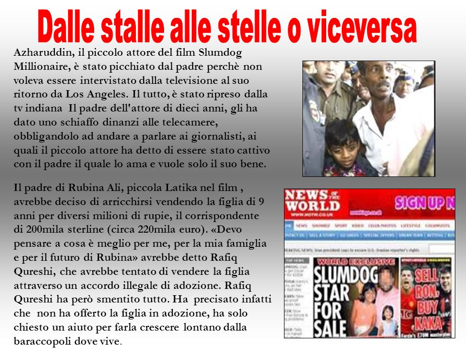 Dalle stalle alle stelle o viceversa