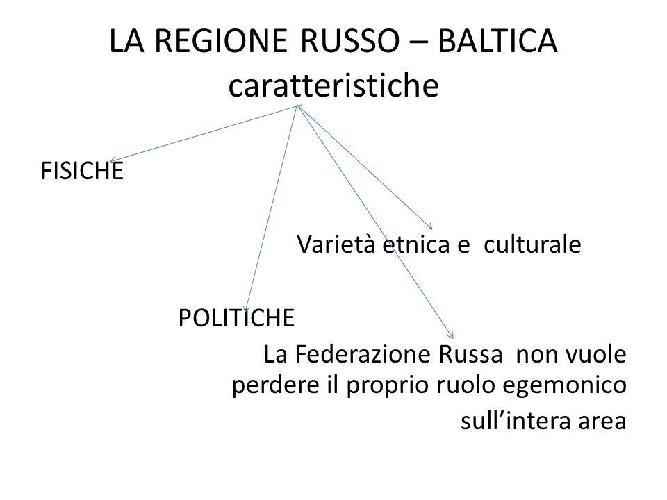 LA REGIONE RUSSO – BALTICA caratteristiche