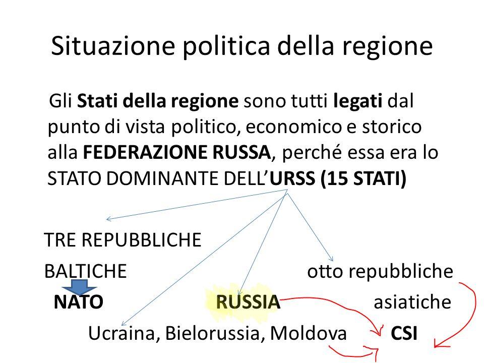 Situazione politica della regione