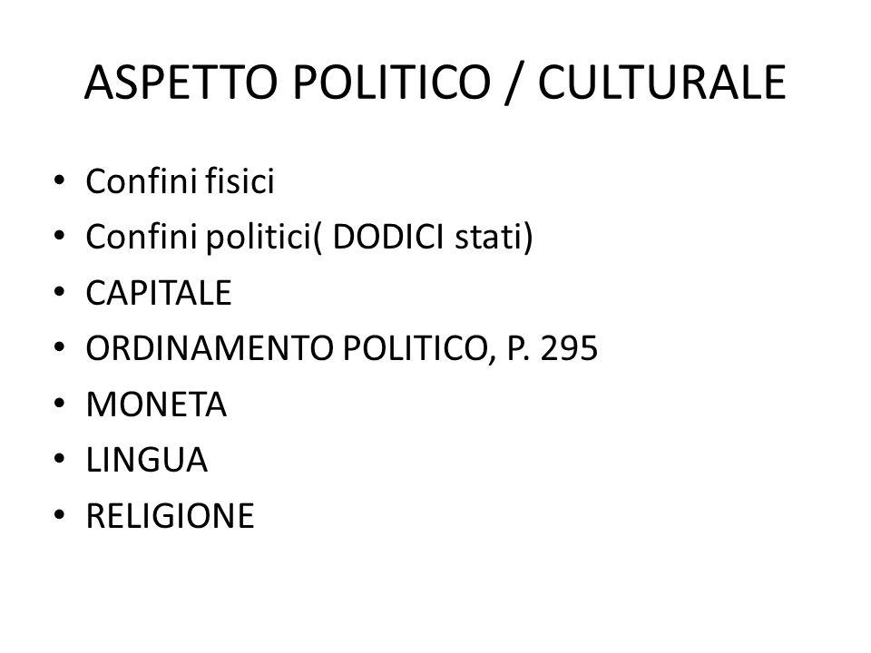 ASPETTO POLITICO / CULTURALE