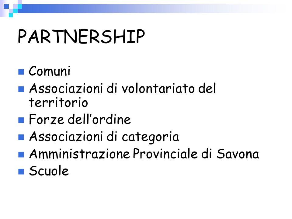PARTNERSHIP Comuni Associazioni di volontariato del territorio
