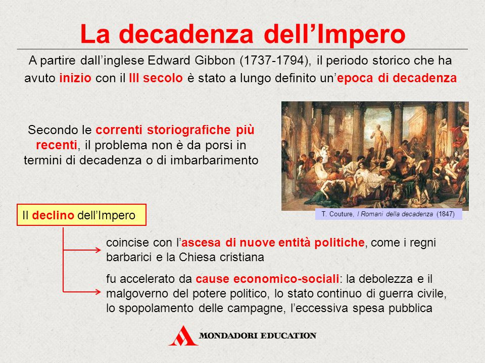 La decadenza dell'Impero