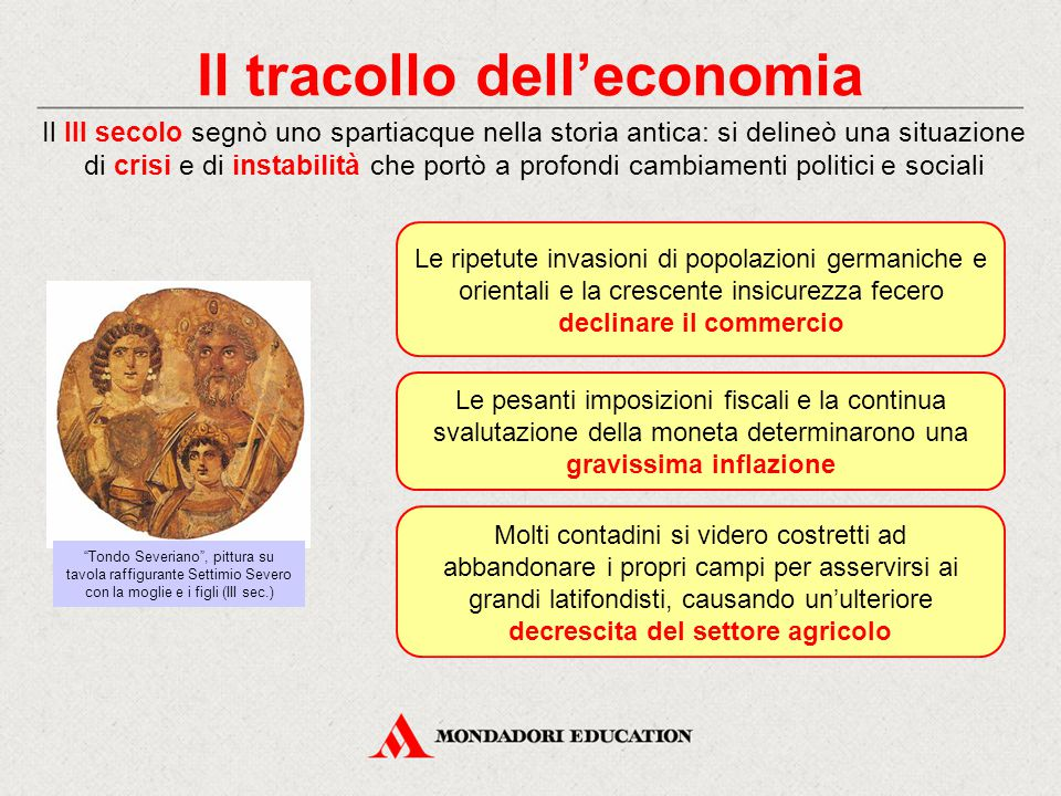 Il tracollo dell'economia