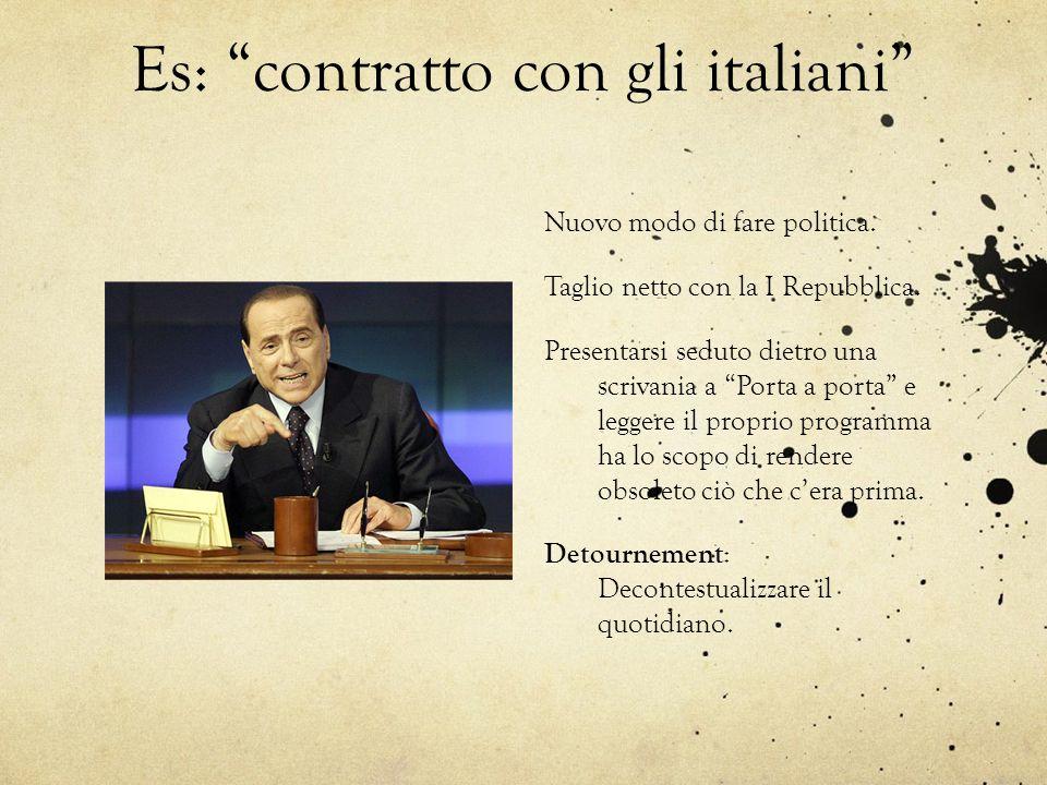 Es: contratto con gli italiani