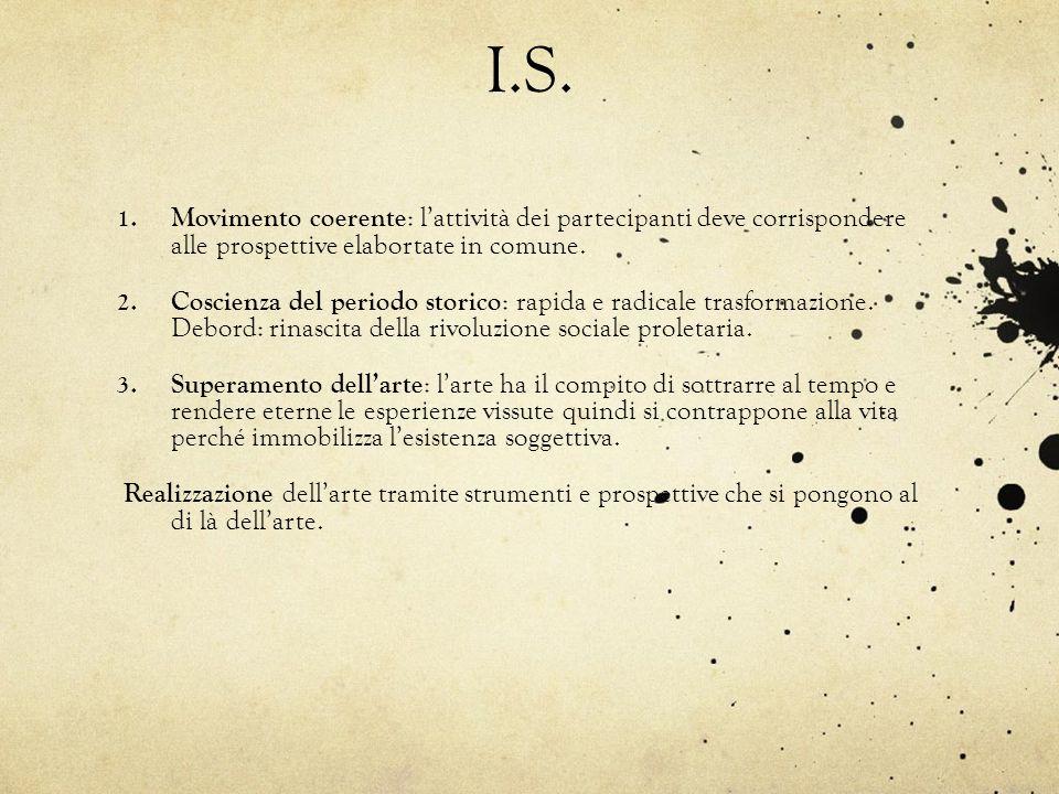 I.S. Movimento coerente: l'attività dei partecipanti deve corrispondere alle prospettive elabortate in comune.