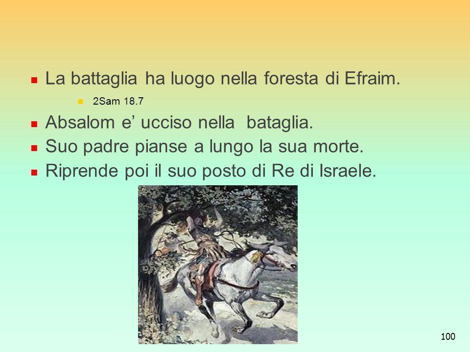 La battaglia ha luogo nella foresta di Efraim.