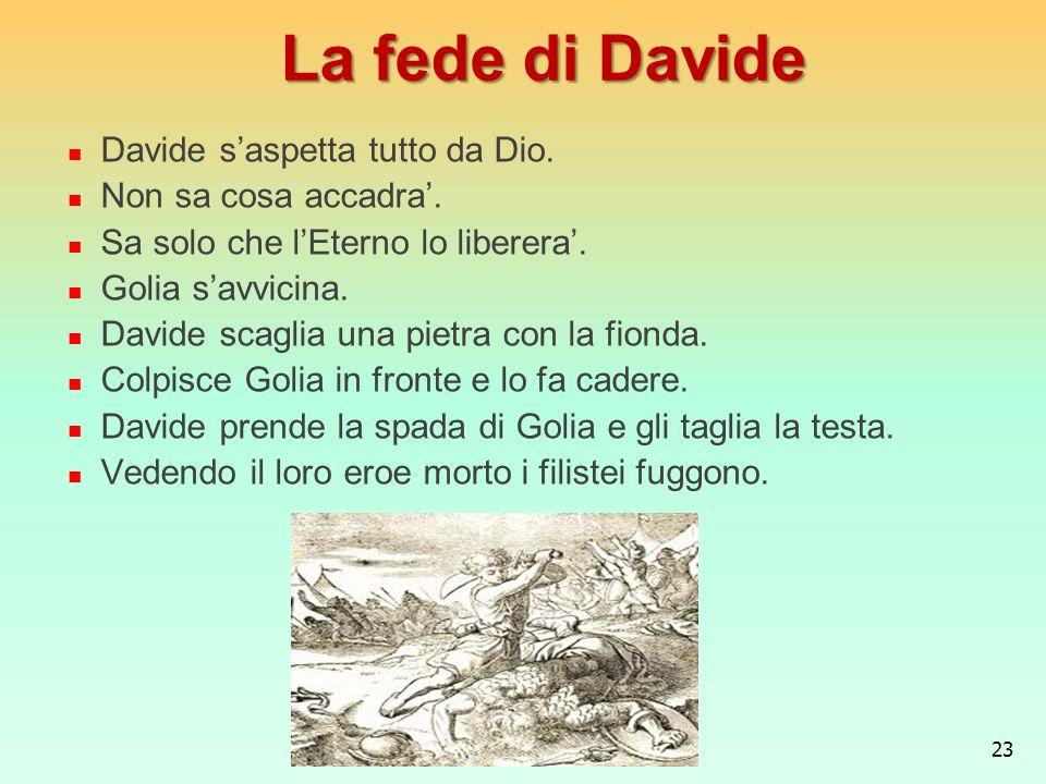 La fede di Davide Davide s'aspetta tutto da Dio. Non sa cosa accadra'.
