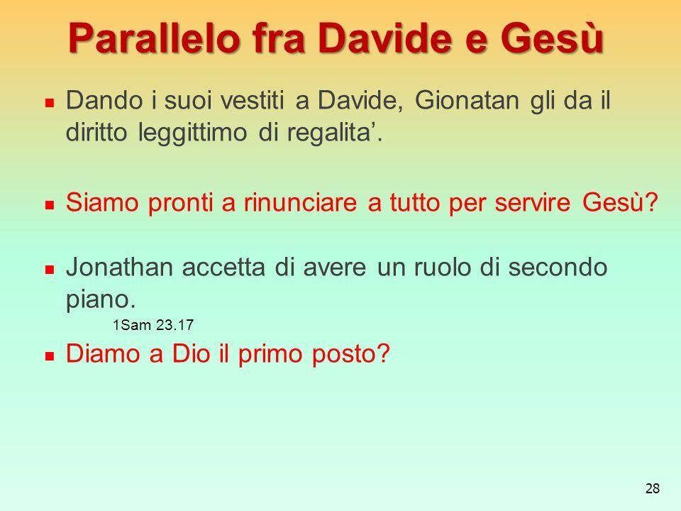 Parallelo fra Davide e Gesù