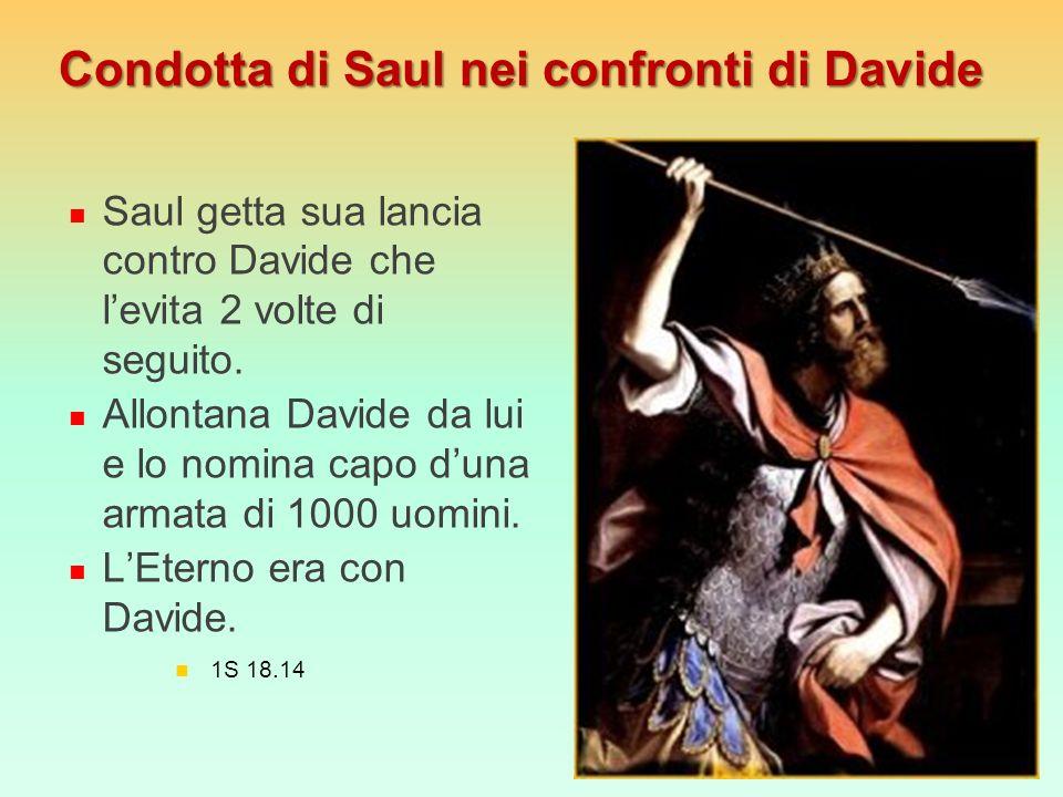 Condotta di Saul nei confronti di Davide