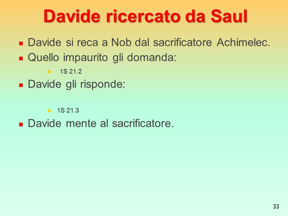 Davide ricercato da Saul