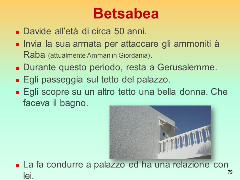 Betsabea Davide all'età di circa 50 anni.