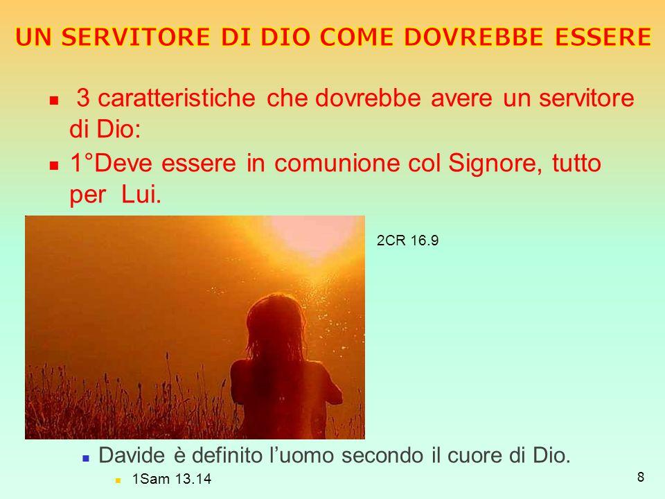 UN SERVITORE DI DIO COME DOVREBBE ESSERE
