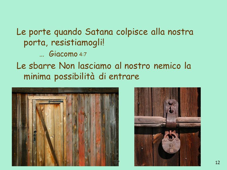 Le porte quando Satana colpisce alla nostra porta, resistiamogli!