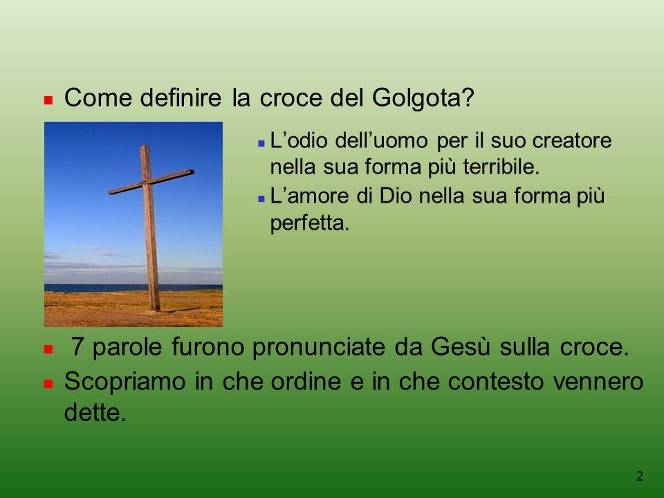 Come definire la croce del Golgota