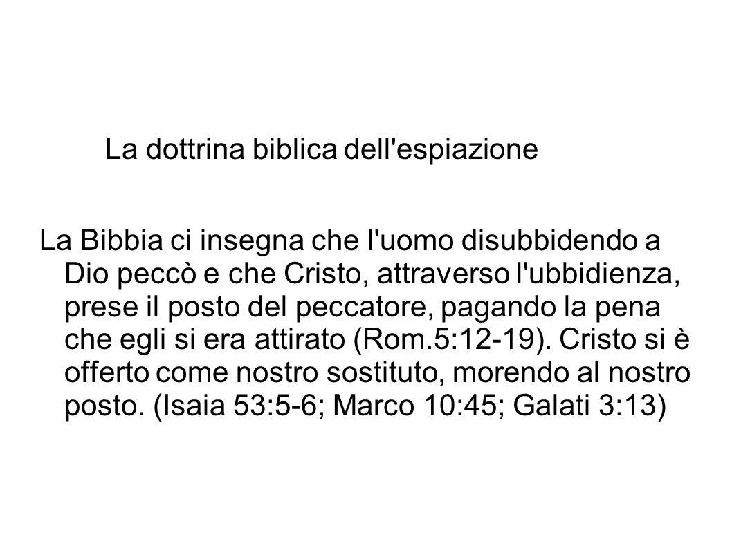 La dottrina biblica dell espiazione