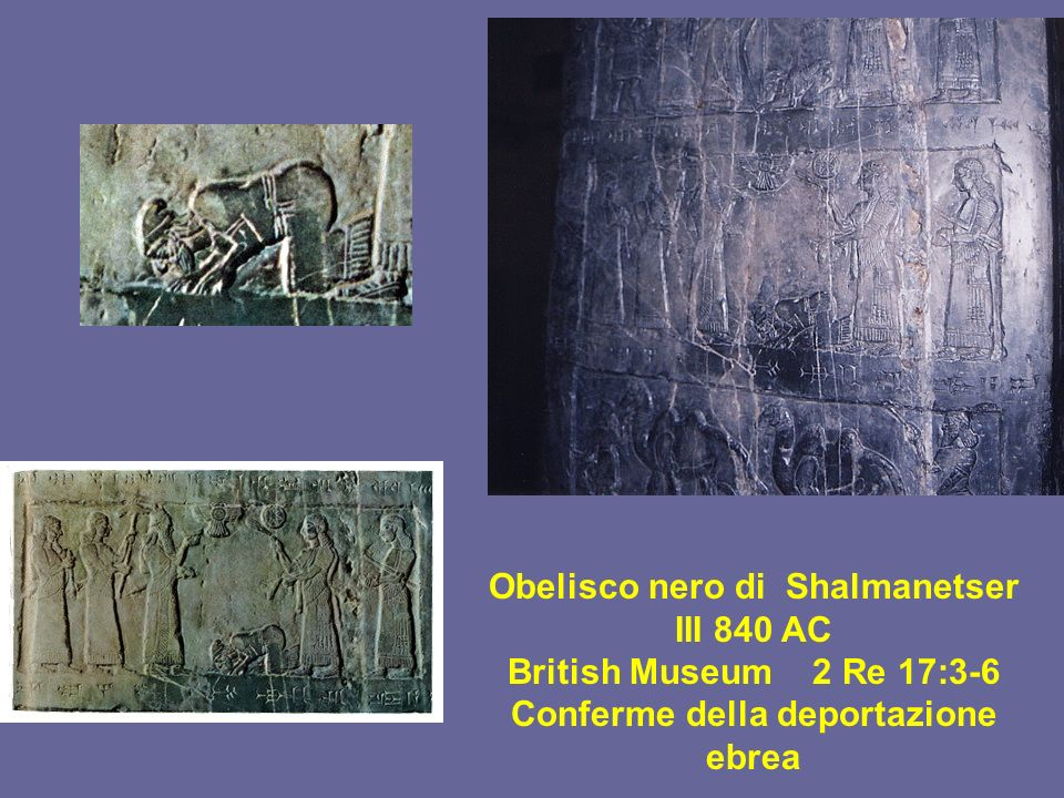 Obelisco nero di Shalmanetser III 840 AC British Museum 2 Re 17:3-6